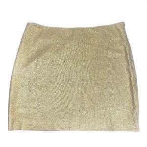 New York & co. Tan & gold mini skirt